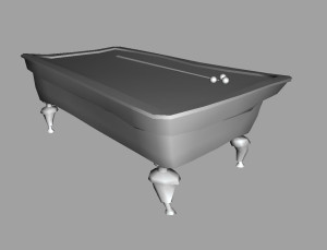 Warped billiard table