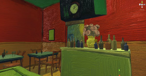 While the painted texture added some realism to the lighting style, it was not the look I was going for